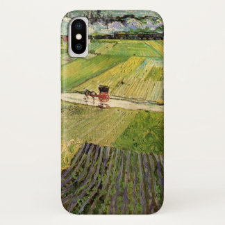 Van Gogh Landscape Carriage and Train, Fine Art iPhone X Case