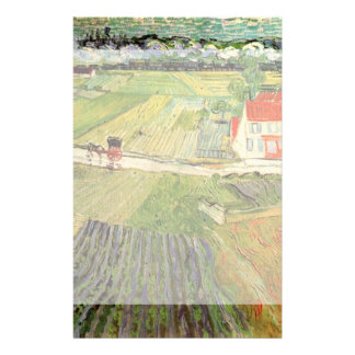 Van Gogh Landscape Carriage and Train, Fine Art Stationery