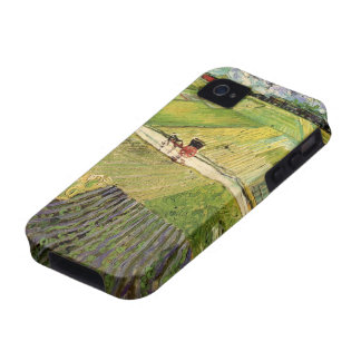 Van Gogh Landscape Carriage and Train, Vintage Art Vibe iPhone 4 Cases
