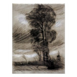 Van Gogh - Landscape in Stormy Weather Posters