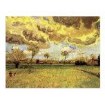 Van Gogh; Landscape Under Stormy Sky, Vintage Farm