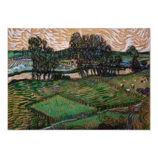 Van Gogh Landscape with Bridge Across the Oise 13 Cm X 18 Cm Invitation Card