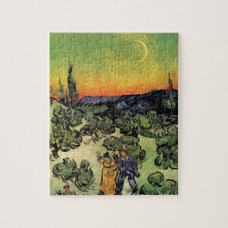 Van Gogh - Landscape With Couple Walking Jigsaw Puzzle