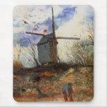 Van Gogh Le Moulin de la Galette, Vintage Windmill Mouse Pad