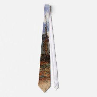 Van Gogh Le Moulin de la Galette, Vintage Windmill Tie