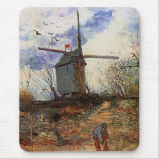 Van Gogh; Le Moulin de la Galette (Windmill) Mouse Pads