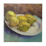 Van Gogh Lemons on a Plate, Vintage Still Life Art
