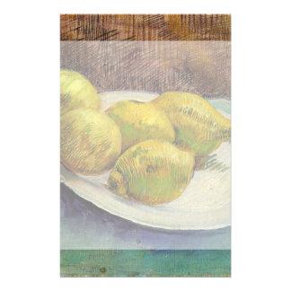 Van Gogh Lemons on a Plate, Vintage Still Life Art Stationery