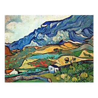 Van Gogh - Les Alpilles Mountain Landscape Postcard