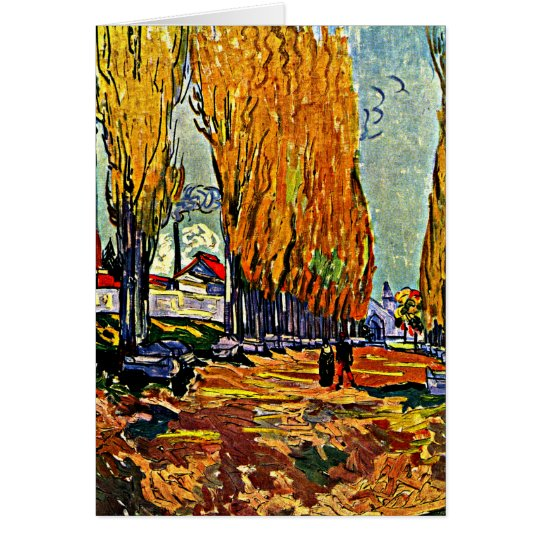 Van Gogh - Les Alyscamps Card
