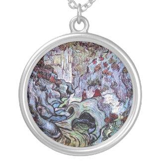 Van Gogh - Les Peiroulets Ravine Round Pendant Necklace