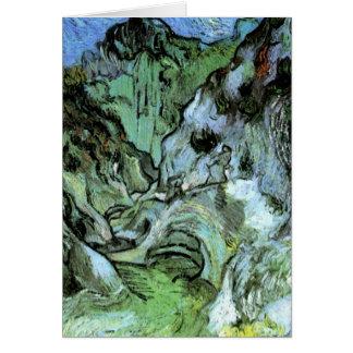 Van Gogh Les Peiroulets Ravine, Vintage Fine Art Card