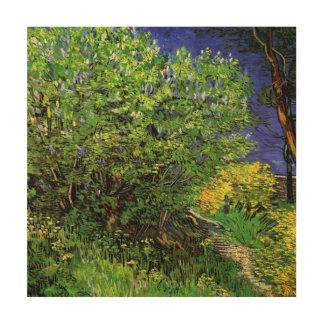 Van Gogh Lilacs, Vintage Flowers, Floral Fine Art Wood Prints