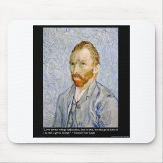 Van Gogh Love Energy Quote Tee Gift Collectible Mouse Pad