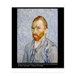 "Van Gogh ""Love People"" Quote On Gifts Tees Cards Postcard"