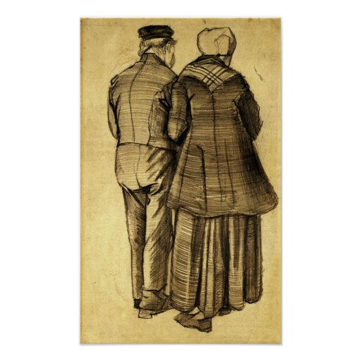 Van Gogh - Man and Woman Seen from