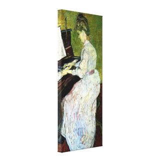 Van Gogh; Marguerite Gachet at Piano, Vintage Art Canvas Print