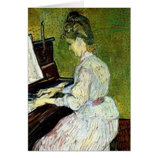 Van Gogh; Marguerite Gachet at Piano, Vintage Art Card