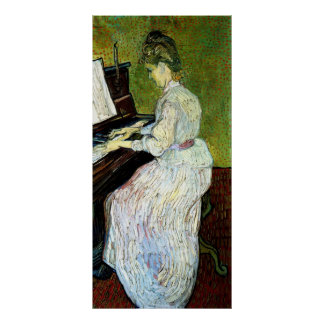 Van Gogh Marguerite Gachet at Piano Vintage Art Posters