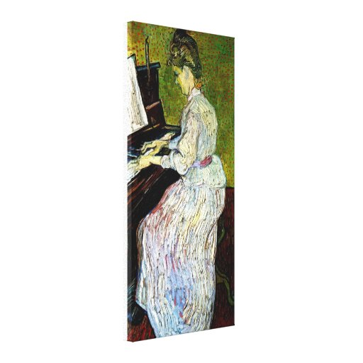 Van Gogh - Marguerite Gachet At The Piano Canvas Prints