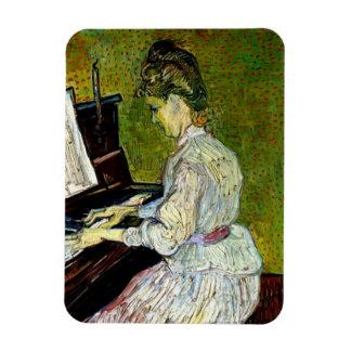 Van Gogh - Marguerite Gachet At The Piano Rectangular Magnet
