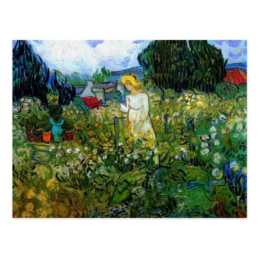 Van Gogh Marguerite Gachet in Garden (F756) Post Card