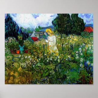 Van Gogh Marguerite Gachet in Garden (F756) Poster
