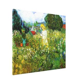 Van Gogh; Marguerite Gachet in Garden, Vintage Art Stretched Canvas Prints