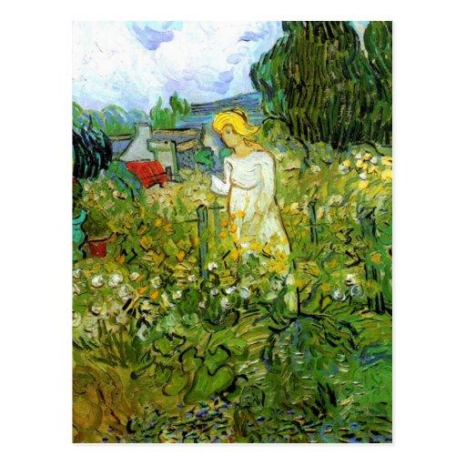 Van Gogh; Marguerite Gachet in Garden, Vintage Art Post Card