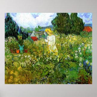 Van Gogh; Marguerite Gachet in Garden, Vintage Art Poster