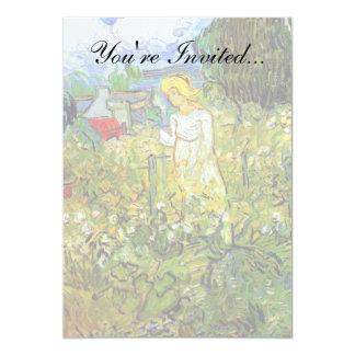 Van Gogh - Marguerite Gachet In The Garden 13 Cm X 18 Cm Invitation Card