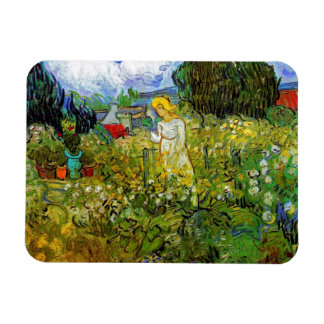 Van Gogh - Marguerite Gachet In The Garden Rectangular Magnets