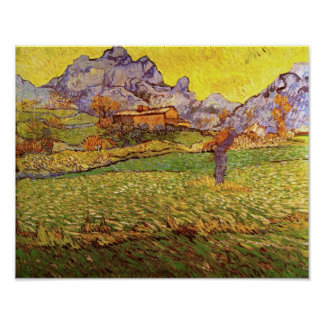 Van Gogh Meadow in the Mountains Print