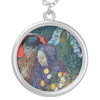 Van Gogh - Memory Of The Garden At Etten Round Pendant Necklace