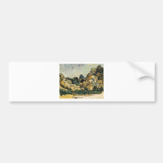 VAN GOGH - MOUNTAINS AT SAINT-REMY BUMPER STICKER