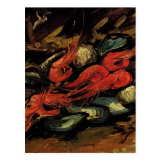 Van Gogh, Mussels and Shrimp, Vintage Still Life Postcard