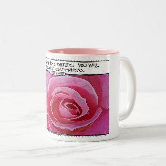Van Gogh Nature Quote Rose Mug
