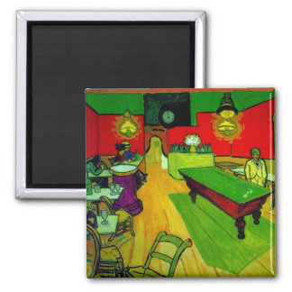 Van Gogh Night Cafe Place Lamartine (F463) Square Magnet