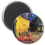 Van Gogh Night Cafe Terrace on the Place du Forum 6 Cm Round Magnet