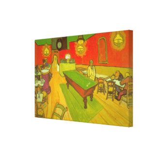 Van Gogh Night Cafe, Vintage Fine Art Canvas Prints