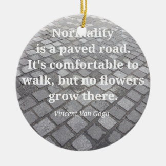 "Van Gogh ""Normality"" Quote Christmas Ornament"