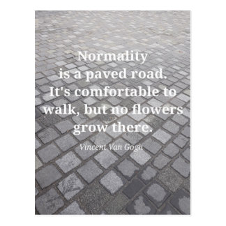 """Van Gogh """"Normality"""" Quote Postcard"""