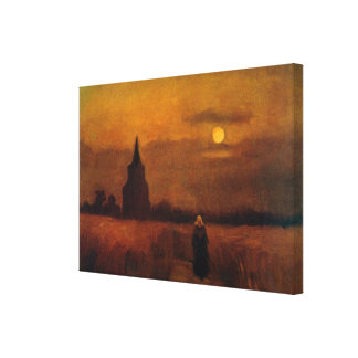 Van Gogh Old Tower In The Fields, Vintage Fine Art Canvas Print