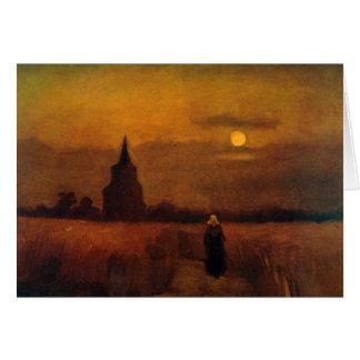 Van Gogh Old Tower In The Fields, Vintage Fine Art Card