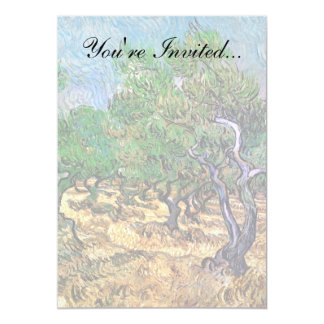 Van Gogh - Olive Grove 13 Cm X 18 Cm Invitation Card