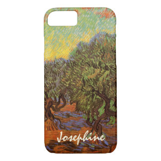 Van Gogh Olive Grove Orange Sky, Vintage Fine Art iPhone 7 Case
