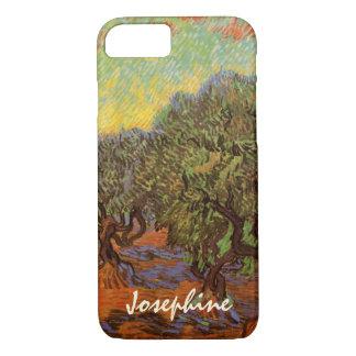 Van Gogh Olive Grove Orange Sky, Vintage Fine Art iPhone 7 Case