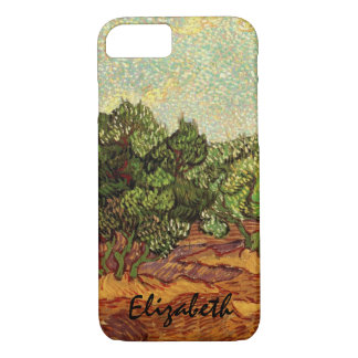 Van Gogh Olive Grove Pale Blue Sky, Fine Art iPhone 7 Case