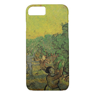 Van Gogh Olive Grove Picking Figures, Fine Art iPhone 7 Case