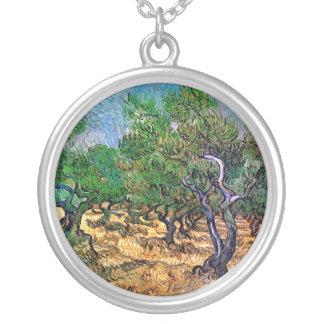 Van Gogh - Olive Grove Round Pendant Necklace